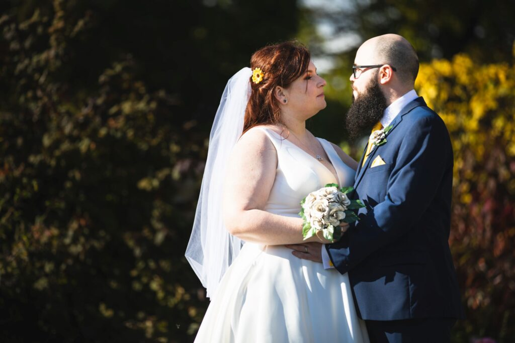 bride grooms loving look caswell house gardens oxfordshire wedding photographers