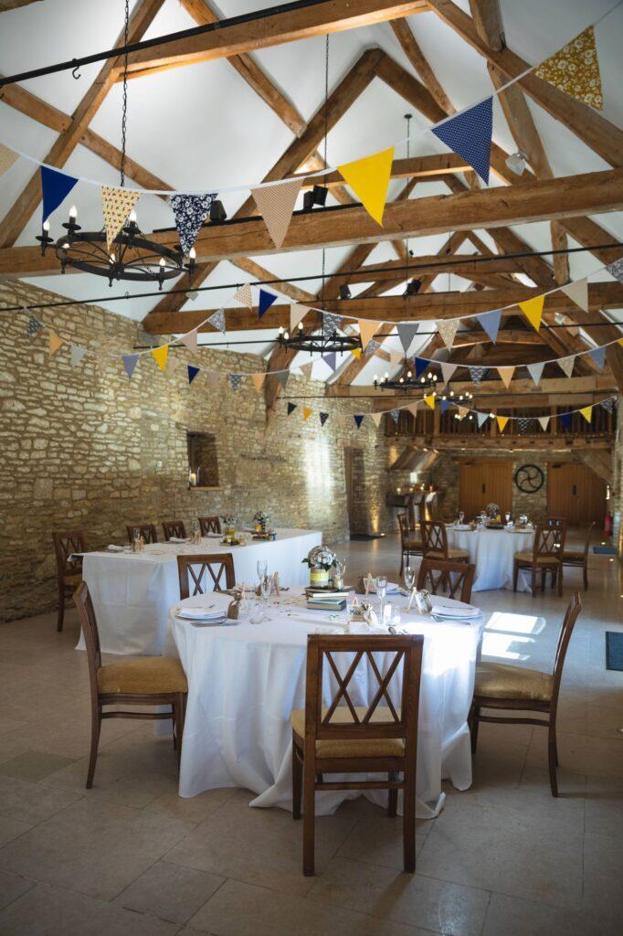 micro wedding breakfast table arrangement caswell house oxfordshire wedding photographer