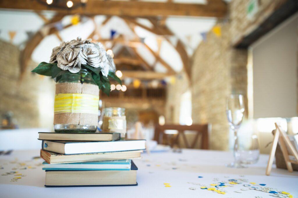 table decoration wedding breakfast caswell house oxford wedding photographer