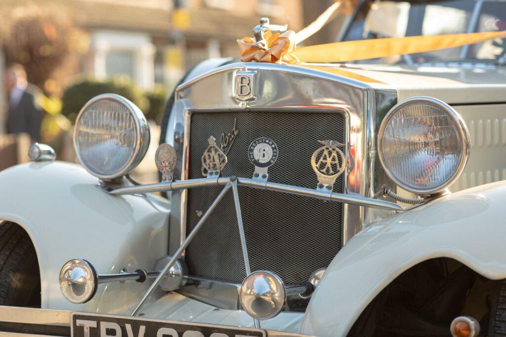 beauford classic bridal car awaits bride danson park marriage ceremony bexleyheath oxfordshire wedding photographer