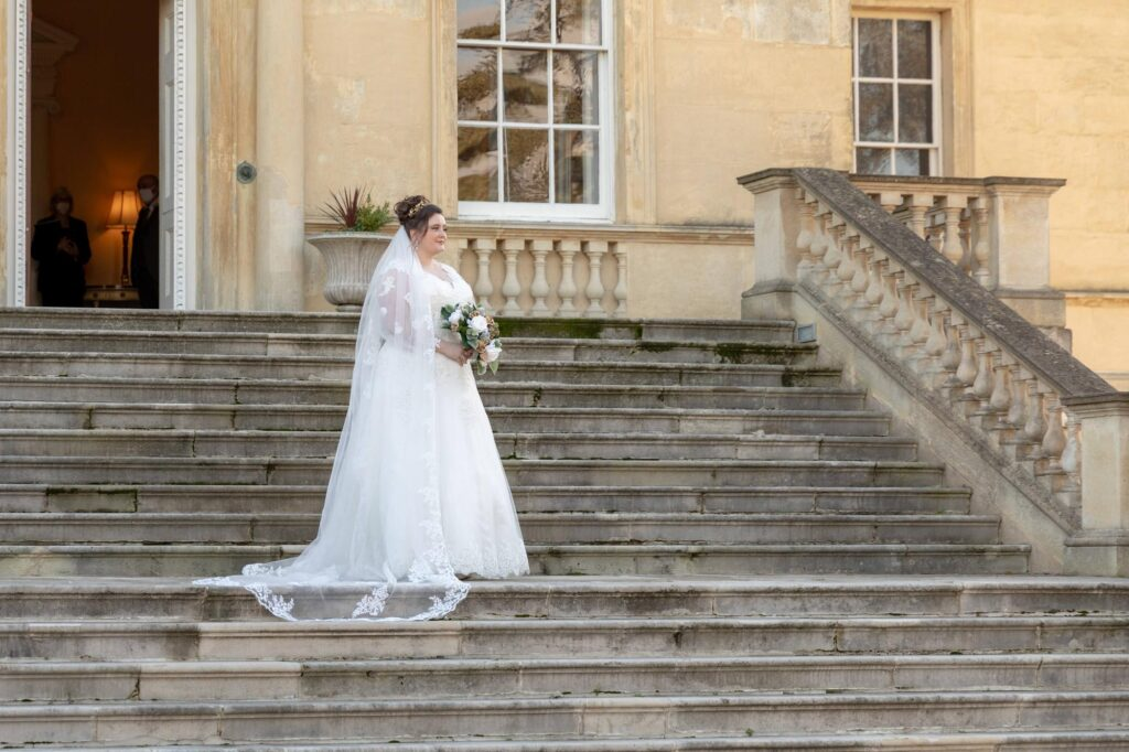 brides traditional portrait danson house steps bexleyheath london oxford wedding photographers