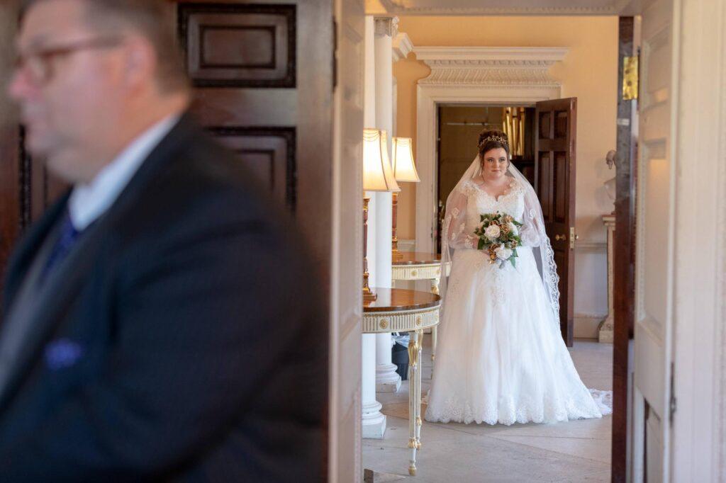 bride enters ceremony danson house registry office bexleyheath oxfordshire wedding photographers