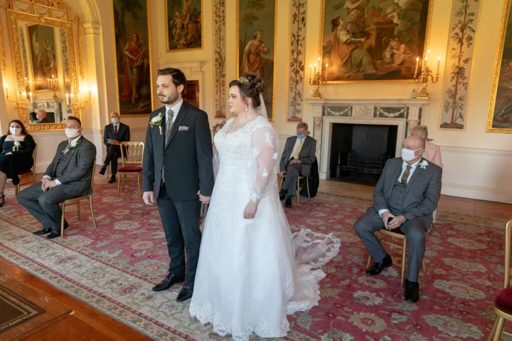 bride groom ceremony begins danson house bexleyheath london oxford wedding photographers