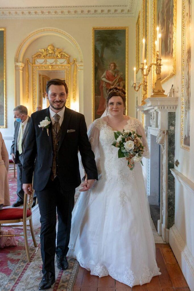 bride groom leave ceremony room danson house bexleyheath london oxfordshire wedding photographer
