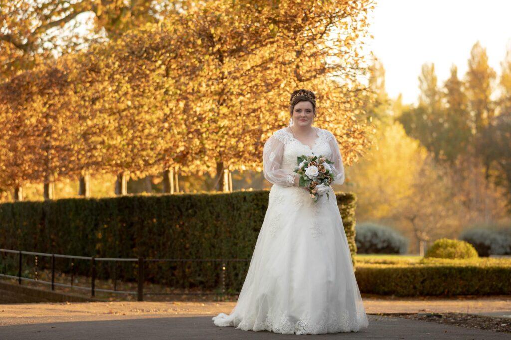 brides sunset portrait danson house and park bexleyheath london oxford wedding photography