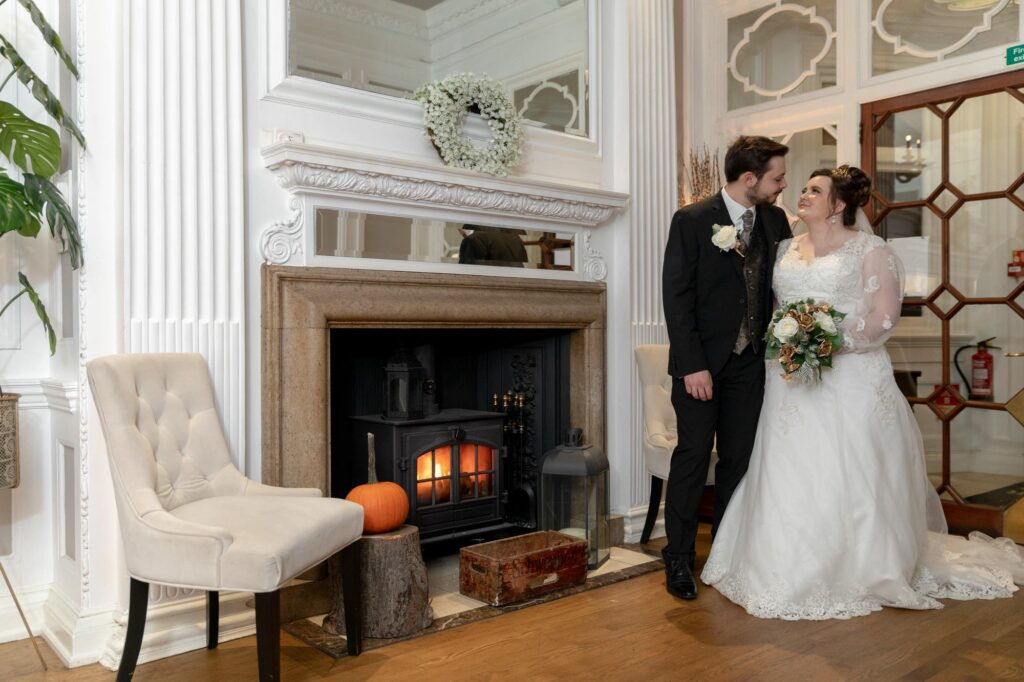bride groom romantic moment wedding breakfast the manor at bickley bromley oxfordshire wedding photographers