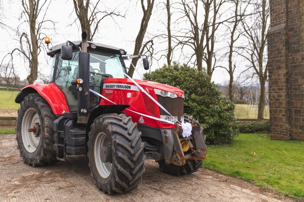 grooms tractor st johns churchyard rishworth sowerby bridge oxford wedding photographer