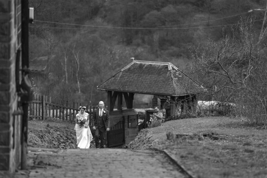 bride father of bride enter st johns churchyard rishworth sowerby bridge oxford wedding photographer