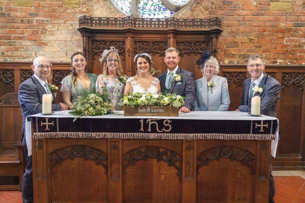 bridal party register signing ceremony st johns church rishworth oxford wedding photography