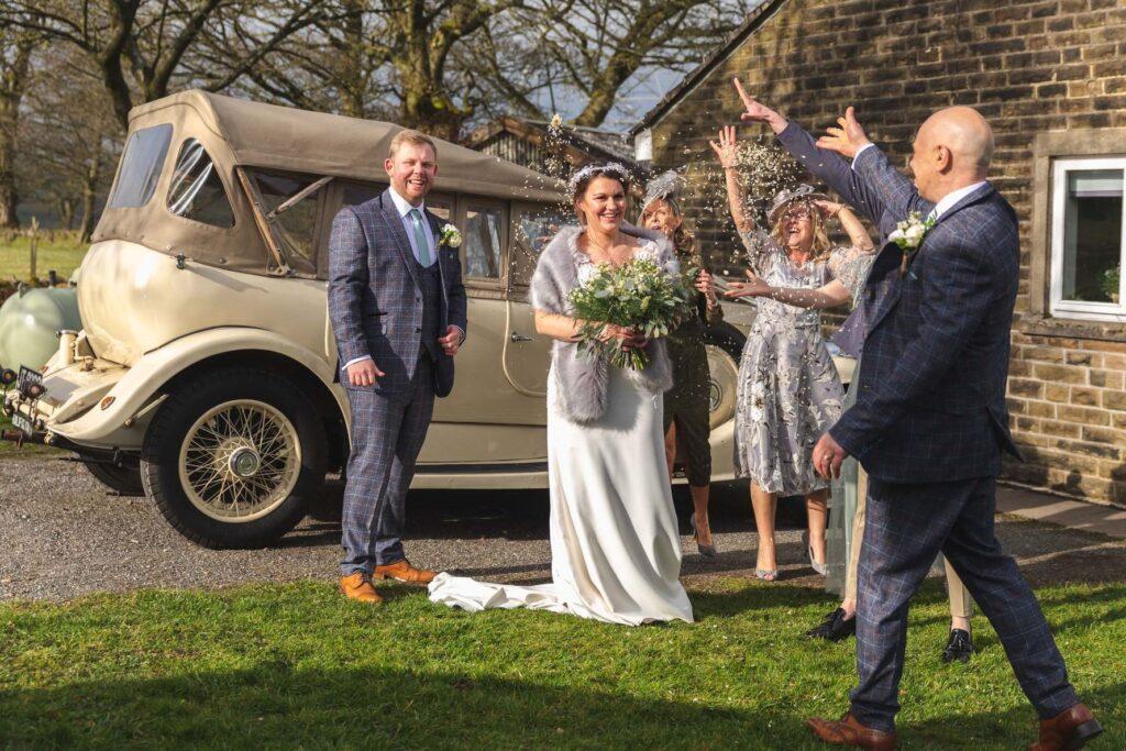 bride grooms west yorkshire wedding breakfast arrival oxford wedding photographer