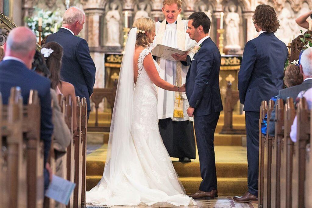 03 bride groom vicar church wedding ceremony oxfordshire wedding photographer