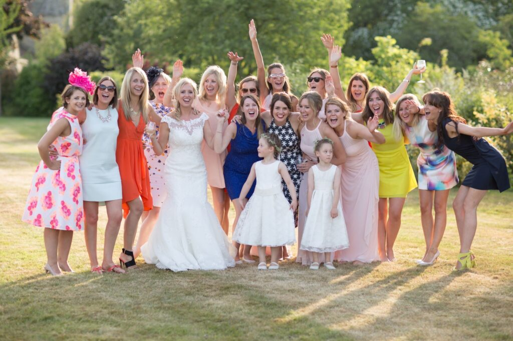 08 brides friends exclusive champagne reception luxury home counties hotel oxfordhire wedding photography