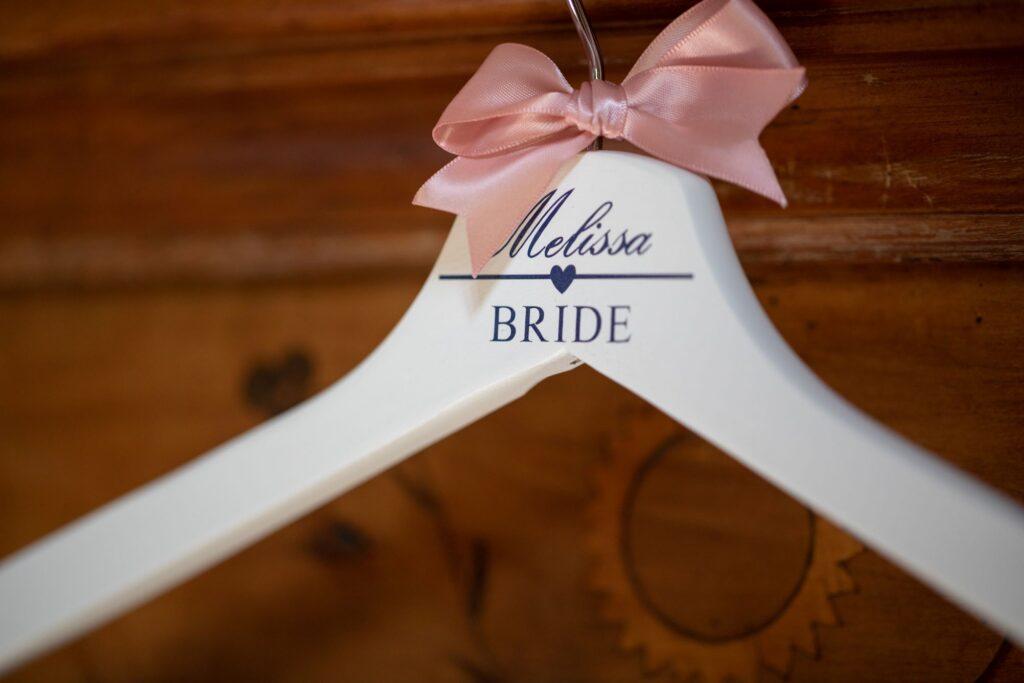 07 melissa bride dress hanger pauntley court gloucester oxford wedding photographer