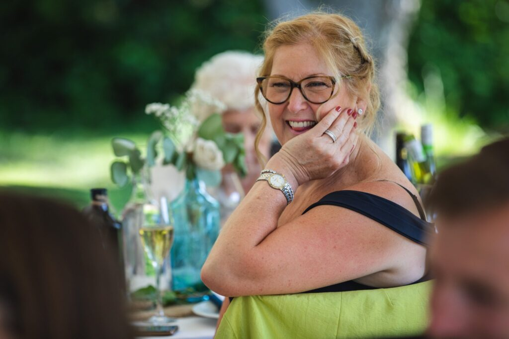 100 smiling guest hears wedding breakfast speech winkfield berkshire oxfordshire wedding photographer