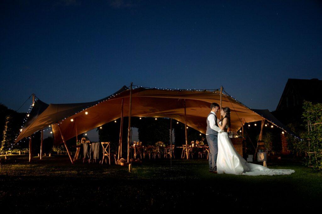 108 bride groom romantic twilight moment pauntley court gloucester oxford wedding photography