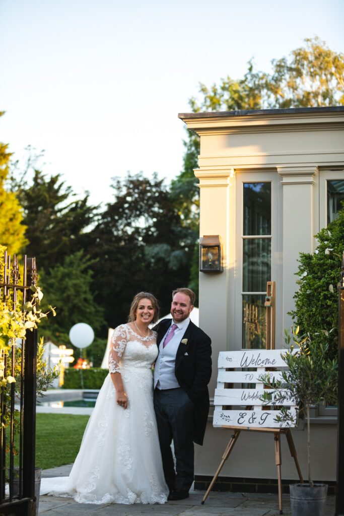 108 bride grooms welcome sign winkfield berkshire reception oxford wedding photographer