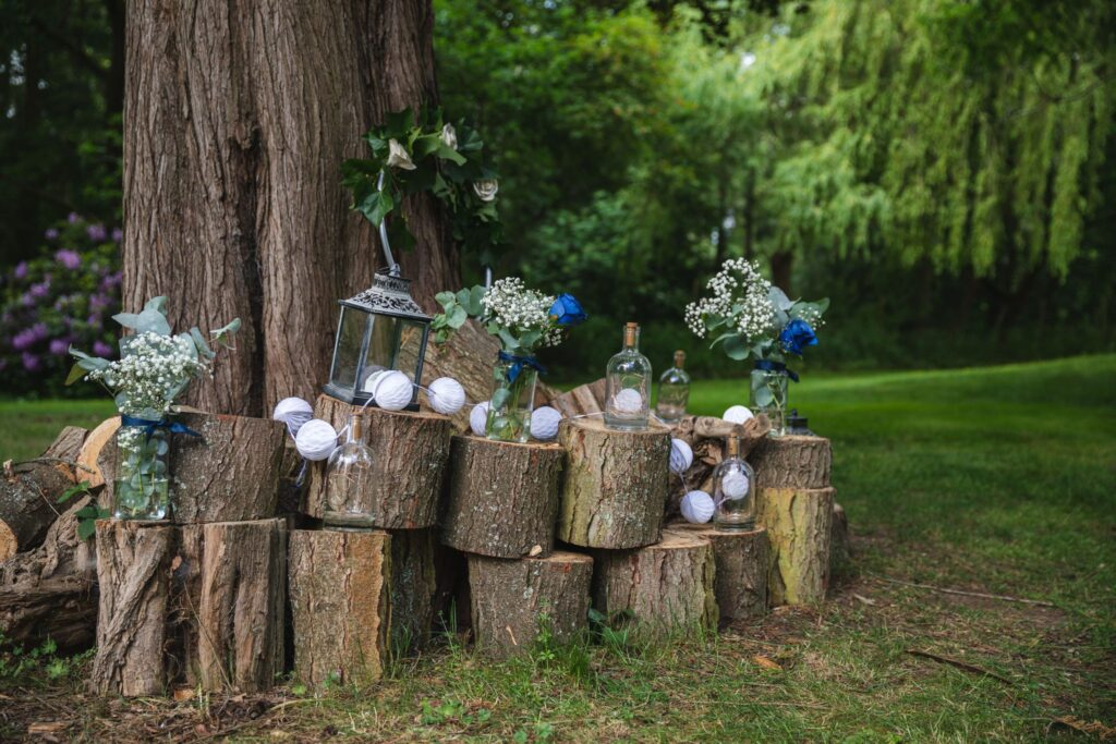 11 garden decorations winkfield windsor private home wedding event berkshire oxfordshire wedding photographers