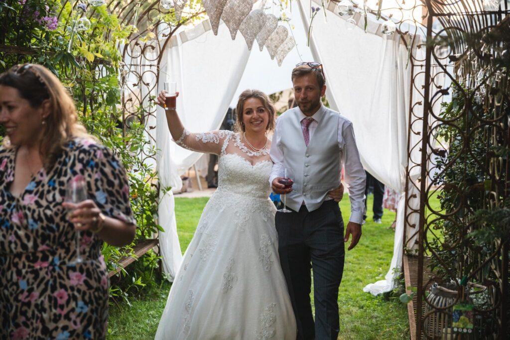 114 bride guests enjoy drinks reception party winkfield berkshire oxford wedding photographer