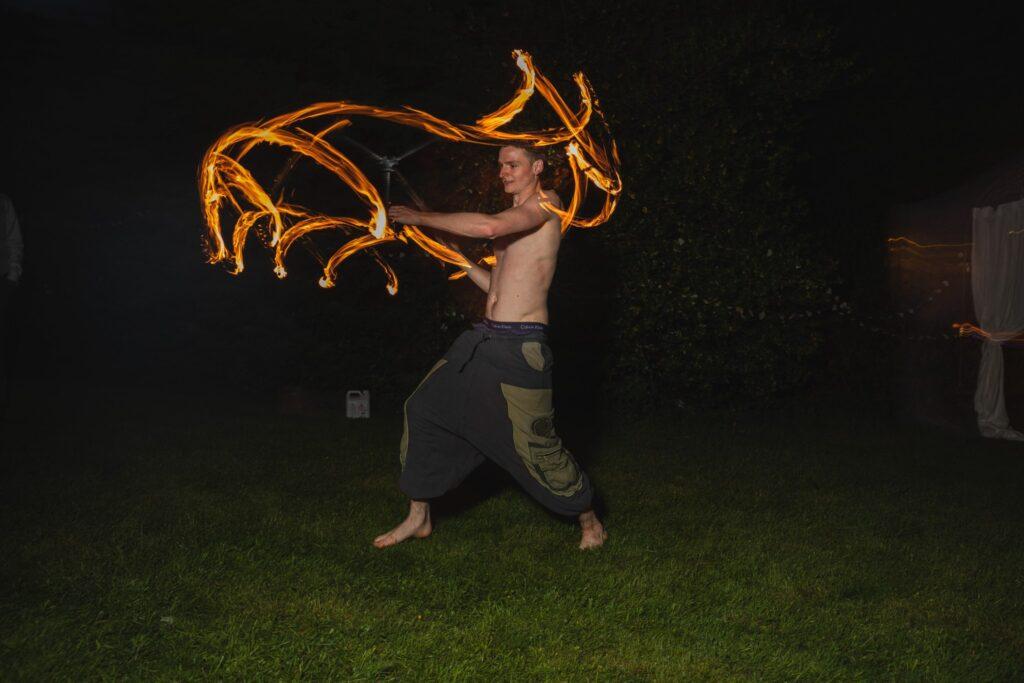 121 fire juggler winkfield wedding garden party berkshire oxford wedding photographers