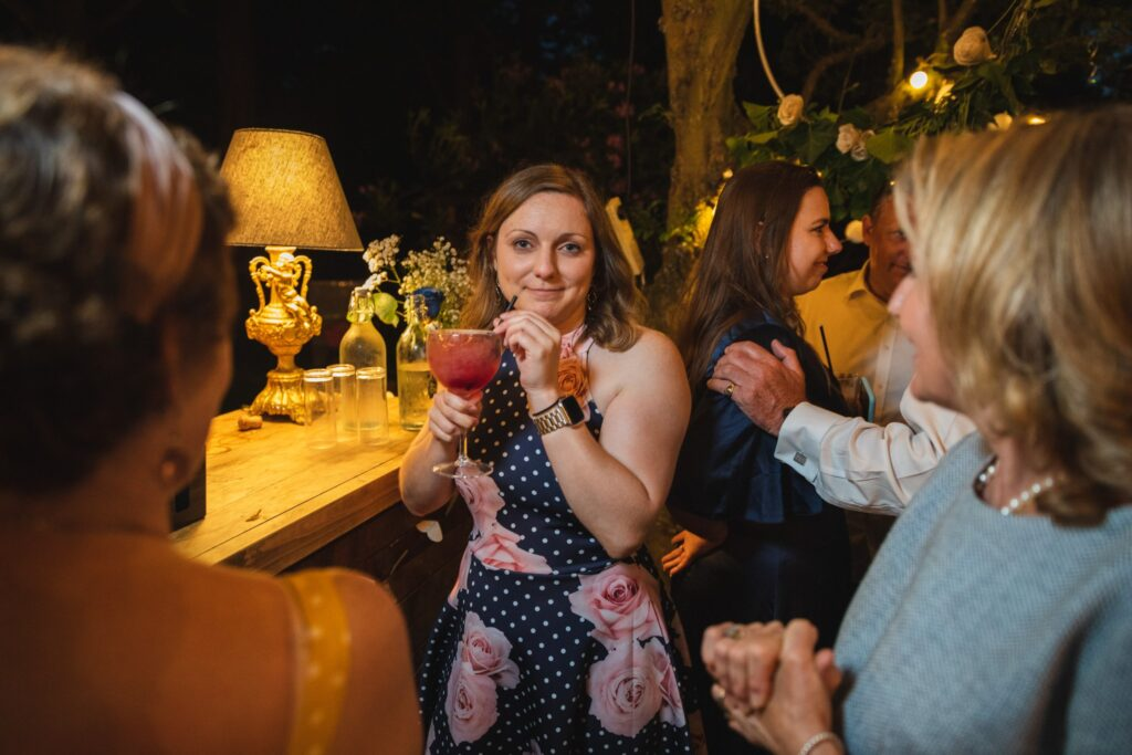 124 guest sips cocktail winkfield wedding garden party berkshire oxfordshire wedding photographers