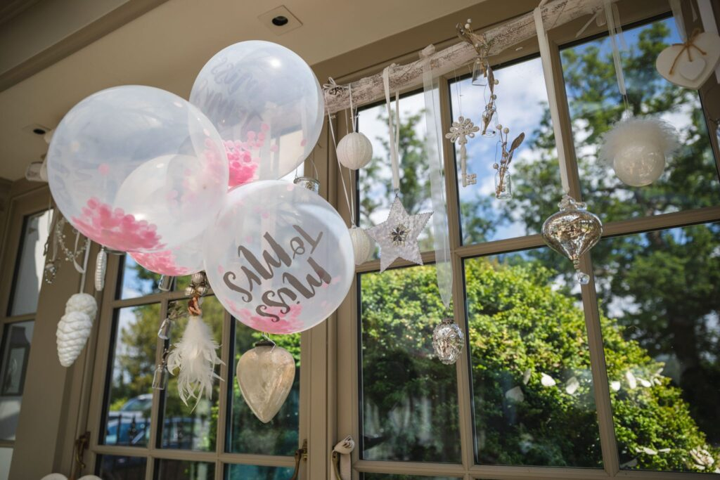 18 balloon decorations winkfield windsor private home wedding event berkshire oxford wedding photography