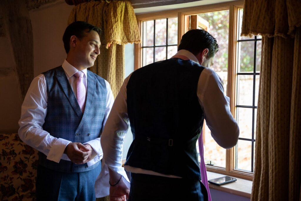 22 grooms preparation pauntley court gloucester oxfordshire wedding photographer
