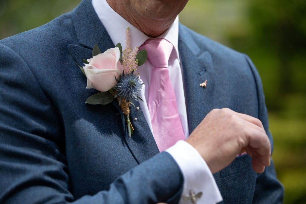 35 grooms corsage pauntley court marriage ceremony gloucester oxfordshire wedding photographers