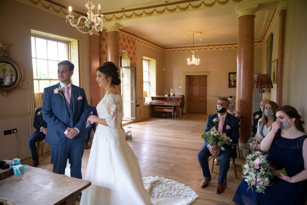 42 bride groom marriage ceremony pauntley court gloucester oxfordshire wedding photography
