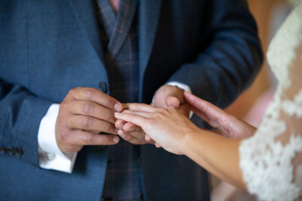 45 bride groom exchange rings marriage ceremony pauntley court gloucester oxford wedding photography