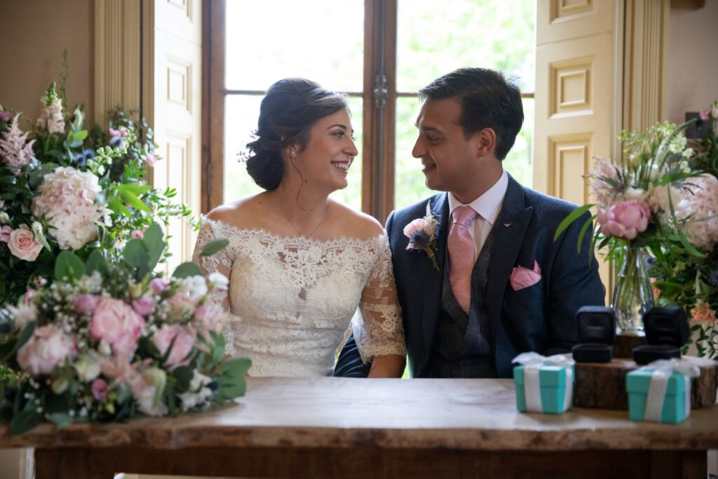 48 bride groom marriage register signing ceremony pauntley court gloucester oxfordshire wedding photography