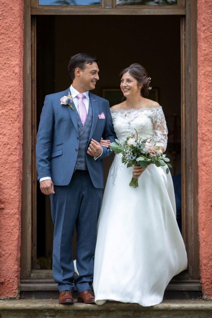50 bride groom exit marriage ceremony room pauntley court gloucester oxford wedding photographers