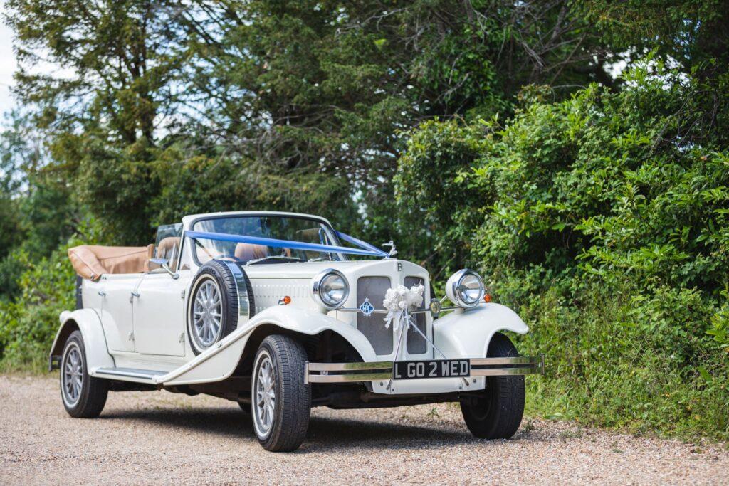 54 classic bridal car awaits bride winkfield berkshire oxfordshire wedding photographers