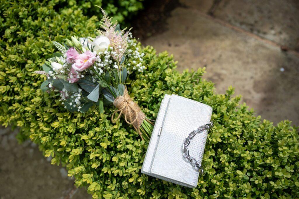 56 brides handbag bouquet garden reception pauntley court gloucester oxford wedding photography