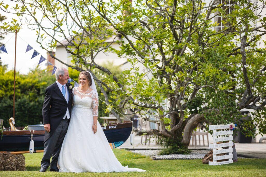 59 bride father of the bride formal garden portrait winkfield berkshire oxfordshire we