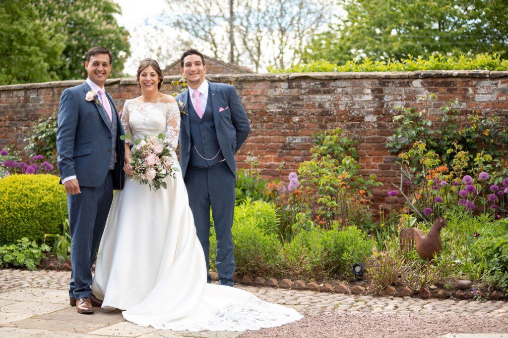 61 bride groom bestman traditional portrait pauntley court gardens gloucester oxfordshire wedding photography