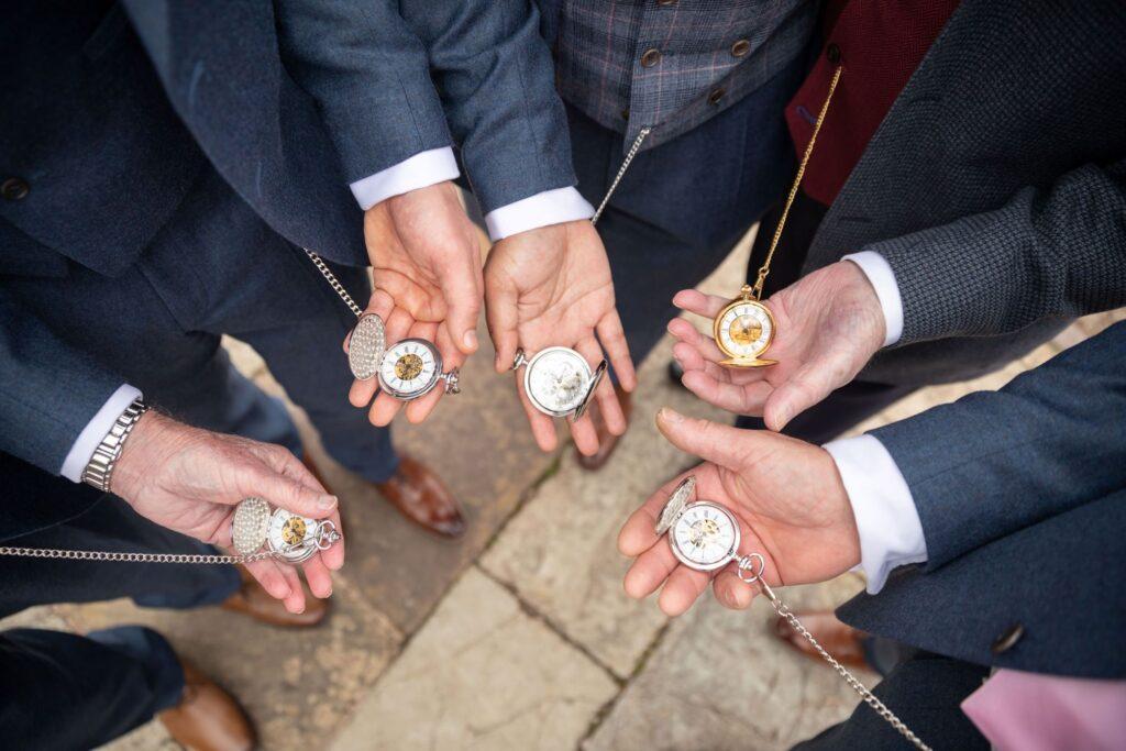 63 groomsmens pocket watches pauntley court garden reception gloucester oxford wedding photographers