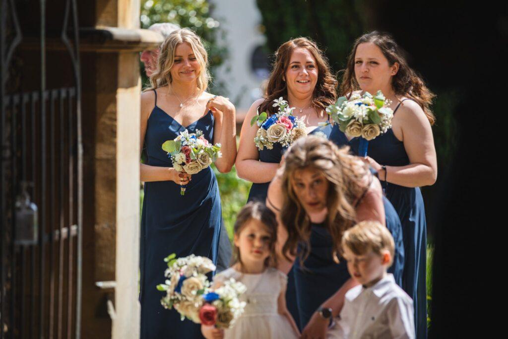 71 bridal party enter st marys church winkfield berkshire oxfordshire wedding photographer
