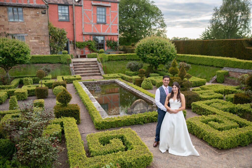73 bride grooms formal garden portrait pauntley court gloucestershire oxford wedding photography