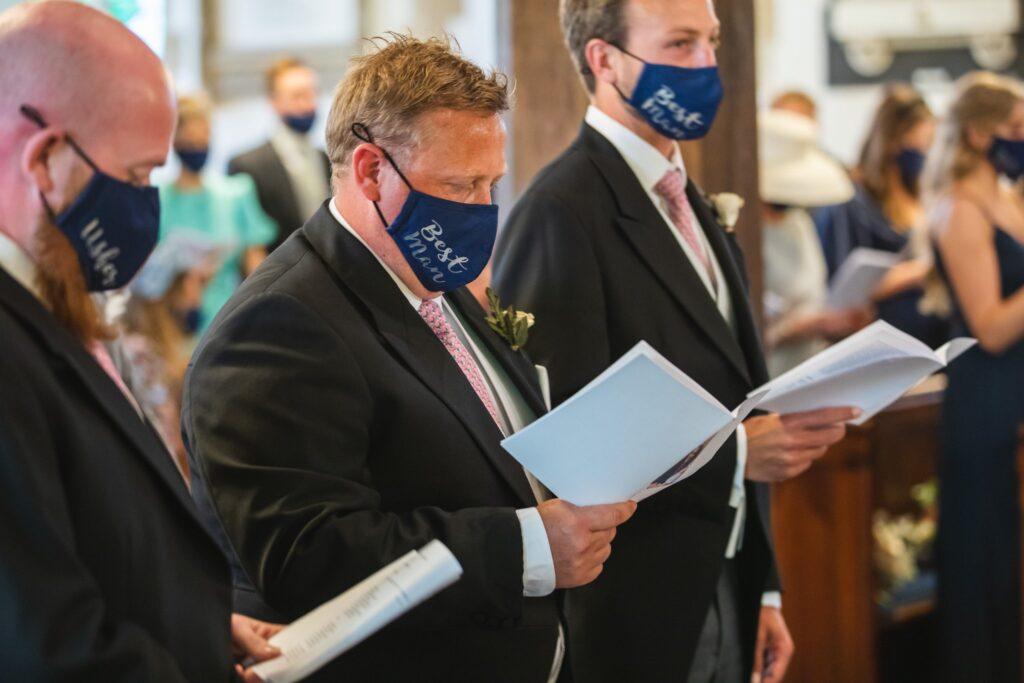 77 groomsmen sing st marys church ceremony winkfield berkshire oxfordshire wedding photography