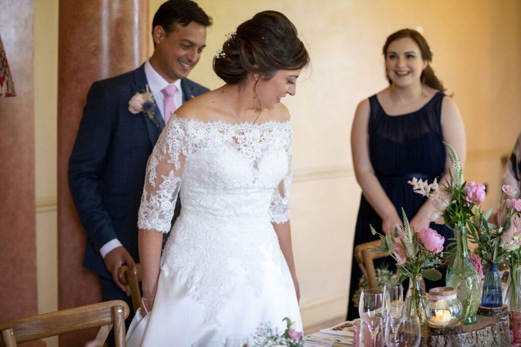 84 bride groom wedding breakfast pauntley court gloucester oxfordshire wedding photographers