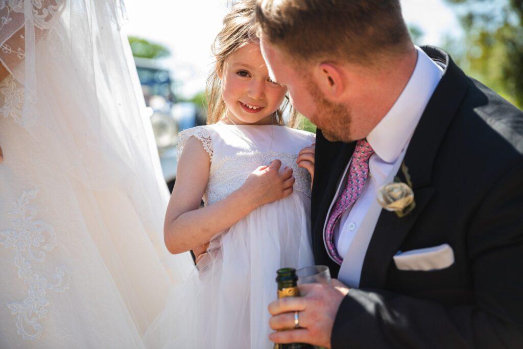 88 shy flowergirl groom winkfield champagne reception berkshire oxfordshire wedding photographer