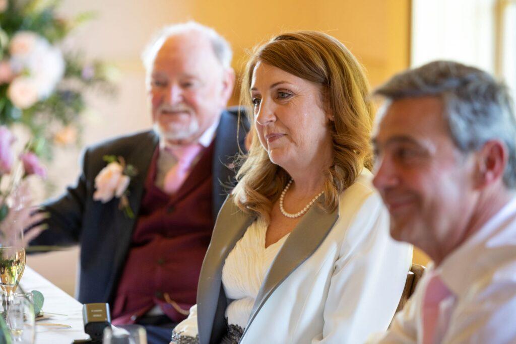 90 guests hear speeches pauntley court reception gloucester oxfordshire wedding photographers