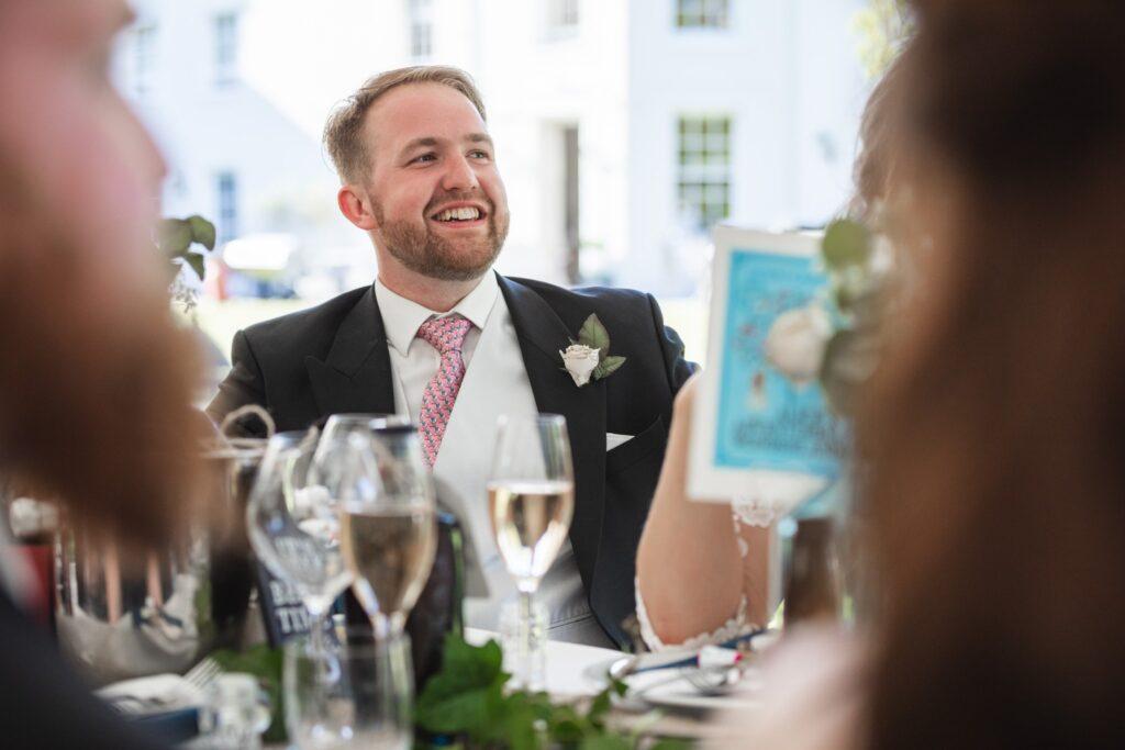 99 groom hears top table wedding breakfast speech winkfield berkshire oxford wedding photography