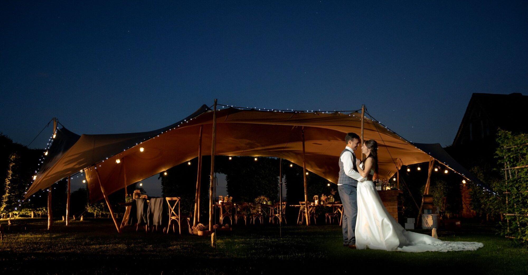 bride groom romantic twilight moment cotswolds wedding venue oxford wedding photography